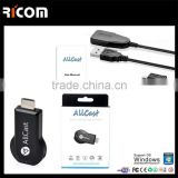 wireless vga miracast dongle,wireless transmitter miracast dongle,miracast for iphone no need jailbreak--A8--Shenzhen Ricom