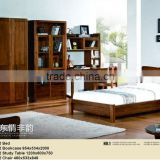 kid solid wood bed top quality home furniture / carved bed room set / solid wood modern design bedroom set