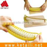 Yellow Banana Slicer Cutter Chopper Fruit Cucumber Vegetable Slicer Peeler Kitchen Tool, Banana Cutter