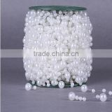 WD-100P 60m Wedding Party Decoration Garland 8mm+3mm Plastic Pearl Beaded wedding decoration Strand