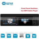 Fixed panel 3inch screen deckless car auto mp4 mp5 dvd cd mp3 fm radio receiver with bluetooth usb sd reversing rear view system