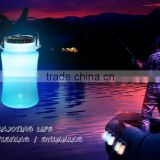 2016 Popular Portable High Quality Powerful Solar Silcone Water Bottle Lantern With Colourful Stuff Storage Bottle