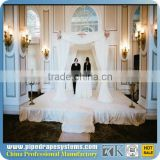 Aluminum backdrop stand wedding decoration event nickel plated napkin ring pipe and drape system for sale