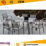 New arrival brushed aluminum with WPC cheap outdoor furniture dining table and chair                                                                         Quality Choice