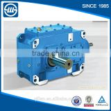 H/Bseries high power 2 stages bevel speed gear reducer industrial helical gearbox for concrete mixer