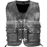 kids leather vest custom leather vests buffalo quality german biker men leather biker vest