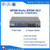 Mini Size 4PON GEPON OLT Optical Line Terminal with Cisco Style CLI Interface and Friendly NMS/Web Management