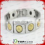 China supplier customized stainless steel bracelet powerful metal magnetic germanium bracelet