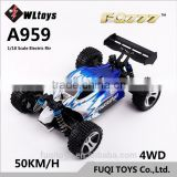 Hot selling wltoys A959 electric four-wheel drive SUV 1/18 Scale Remote Control RC RTR Buggy Car