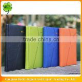 China embossing colored imitation pu leather cover executive diary notebook with lining printing in thread binding