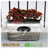 rectangle white and gray color wooden chip basket set