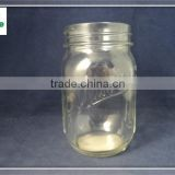 clear empty glass jam mason jar with tin screw cap wholesale
