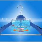 Luxury Plastic Suit Hangers - Extra Wide Plastic Hangers with Velvet Bar for Coats and Pants
