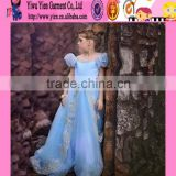 2015 latest design baby girl perfect Christmas dress original selling cheaper long Sofia Princess dress