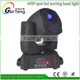 Christmas New 60w Led Spot Light Moving Head Stage Lighting; led moving head spot for Christmas