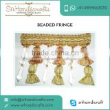 Authentic Exporter Supplying Beaded Lace Trim at Nominal Price for for Bulk Buyer