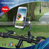 Suit 20-35mm Handlebar 360 Degree Rotation Gooseneck Style Bicycle Phone Holder