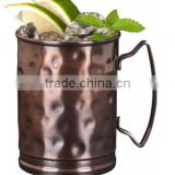 Manufacturer of pure Copper Moscow Mule Mugs Hammered Antique