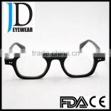 top seller square black buffalo horn eyeglasses frame