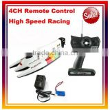"Hot Sale 14"" Medium 4CH High Speed Racing RC Boat/RC Airship Kids Toy"