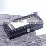 Chinese factories wholesale custom leather gift boxes, beautiful black display box, Europe and the United States sell like hot c