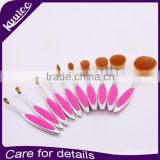 Professional 10Pcs Beauty Eyebrow Powder Blusher Brush Kit for Liquid Powder BB Cream