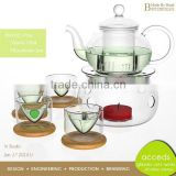 Thermal Pyrex Microwavable Wholesale Glass Teapot Warmer