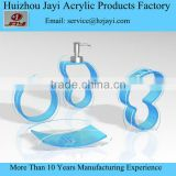 China bathroom accessory empty bottle and lodition pump bottle, soap box, storage box for hotel
