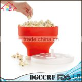 NBRSC Collapsable Make Pop Healthy Popcorn Microwave Popcorn Maker Popper Bowl Red