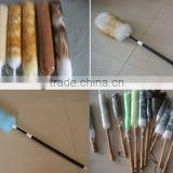 Lamb's Wool Duster With Plastic Telescopic Handle, With Bamboo Handle
