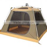 Big doom tent camping tent with 1 living room and 1 bed room for 4 people, quick set up dome tent