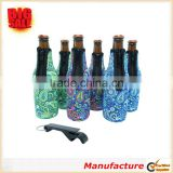 6 set of Bottle Sleeves Thick Neoprene with Stitched Fabric Edges with zipper beer bottle sleeve