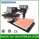pneumatic shaking head/swing heat presses sublimation machine with dual trays