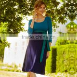 wholesale maternity clothes 3/4 sleeve 100% cotton comfortable maternity dress