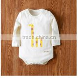BS170719 Natural organic cotton baby clothing baby long sleeve connecting body clothing newborn