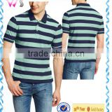 100% cotton mens stripe banded collar cotton shirt