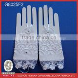 Fingerless Bridal Short Lacework Diamond Lace Embroidered Wedding Gloves