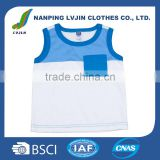 Direct sale cute patterns cotton blank baby vest kids sleeveless t shirt