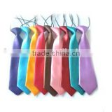 wholesale latest Colorful plain blank confortable satin tape cheap baby ties boys kids party silk ties baby boy wedding neckties