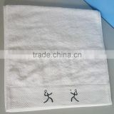 100% cotton embroidery handed towel sports towel