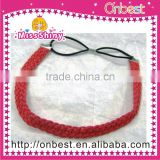 sweat absorbing cotton head wraps for women with rhinestone