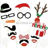 Santa Claus and Elk Props Christmas Party Photo Booth Props Party Mask Set Decorations 20pcs/set
