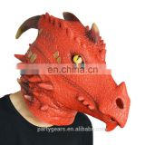 BSCI Audit Factory Natural Rubber Latex Realistic Dinosaur Costume for Sale Mask Animal Face for Carnival/ Masquerade/ Party