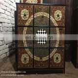 Antique Hand Painted Wooden Nine Drawers Almirah (AL-001)
