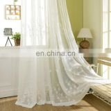 Decorative hotel office polyester embroidered tulle sheer curtain fabric