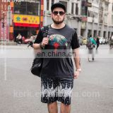 Oversize silky like viscose cool feeling chinese traditional painting men's t shirts