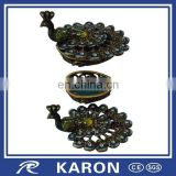 custom laquer metal jewelry box manufacturer with Karon