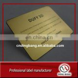 Customized High Quality Aluminum Plate Material And Die Cut Type 1C Printed Classcial Metal Custom Business Card
