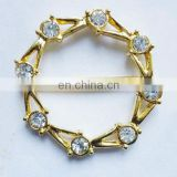 Bling gold shiny rhinestone metal buckle