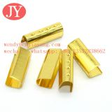 jiayang drawcord gold color u shape aglets tips crimp